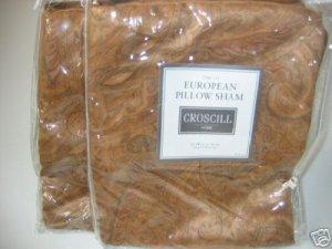 2 Croscill TANNER Euro Shams 1stQual