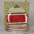 4 Radko Shiny Brite Vintage Ornament Plates NIB