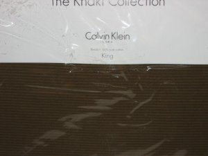 2 Calvin Klein PRESSED LEAVES Cord Weave Euro shams