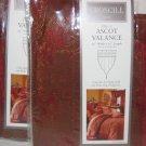 Croscill SHIRAZ MERLOT Ascot Valance NIP 3 avail