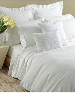 DKNY PURE TAPESTRY White 4P Queen Duvet Set