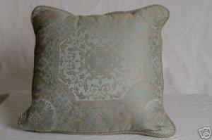 Croscill BELLAVISTA Blue Square Deco Pillow NWT