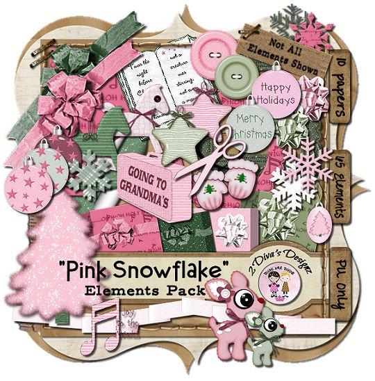 Pink Snowflake