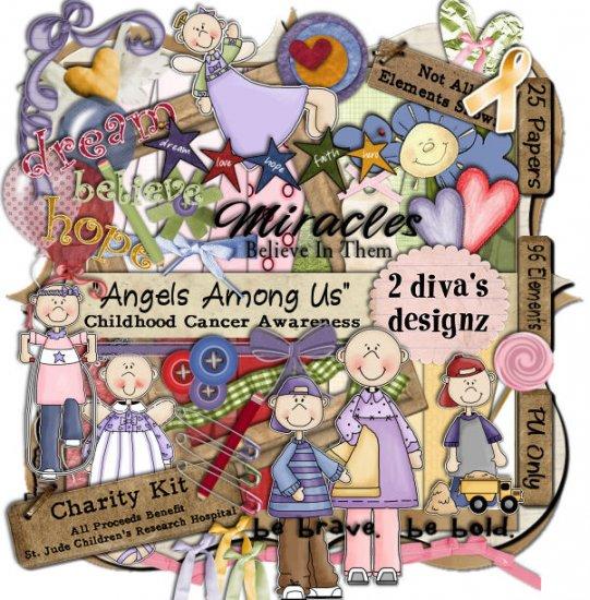 Angels Among Us ~ Childhood Cancer Awareness Kit