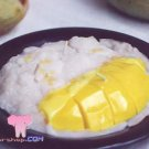 Sticky rice with mango candle