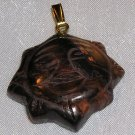 TIGER'S EYE SUN PENDANT