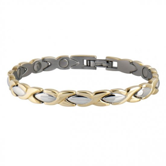 Sabona 332 Lady Executive Dress Gold Duet Magnetic Bracelet