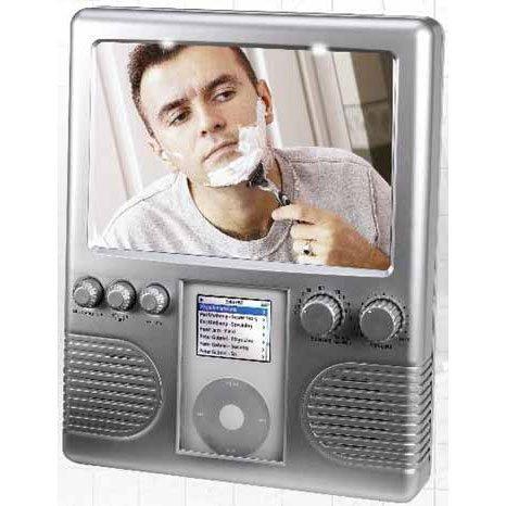 SHOWER RADIO MP3 iPOD AM/FM Fog Free Shave Mirror Light