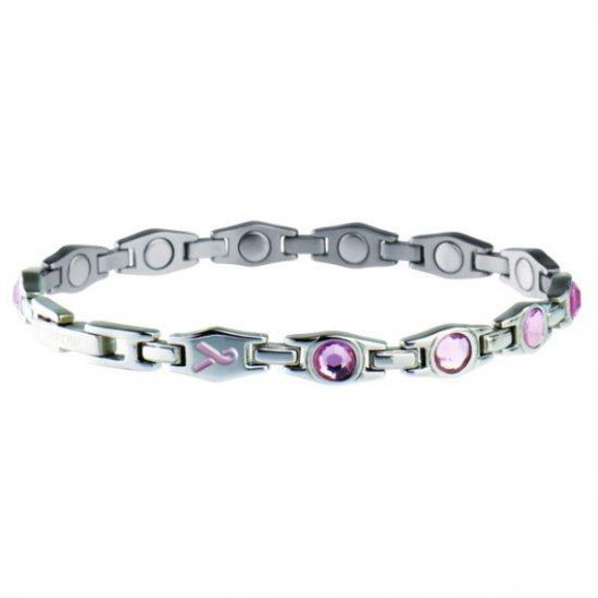 Sabona 310 Lady Executive Pink Ribbon Magnetic Bracelet  Size MEDIUM