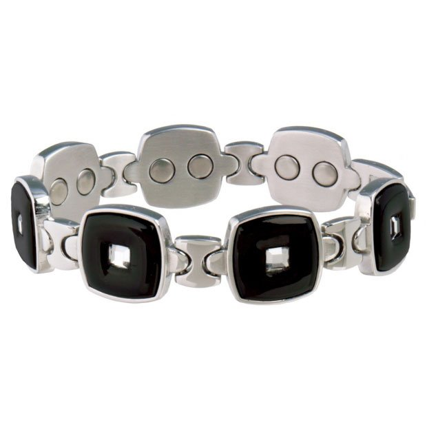 Sabona 308 Lady Executive Black Stainless Gem Magnetic