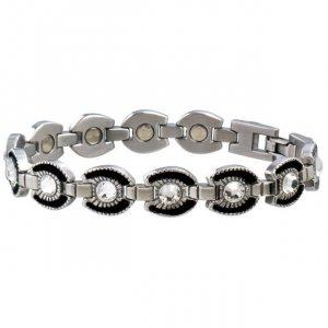 Sabona 214 Ladies Gem Black Horseshoe Magnetic Bracelet