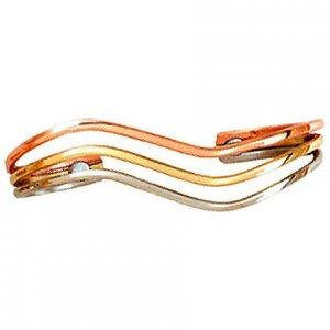 Sergio Lub 766 Ladies WAVE Magnetic Copper Bracelet - SIZE MEDIUM