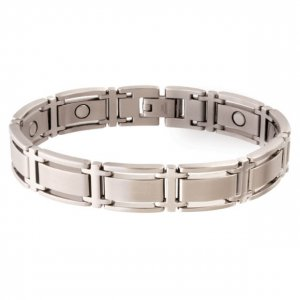 Sabona 347 Executive Symmetry Silver Magnetic Bracelet - SIZE XTRA LARGE