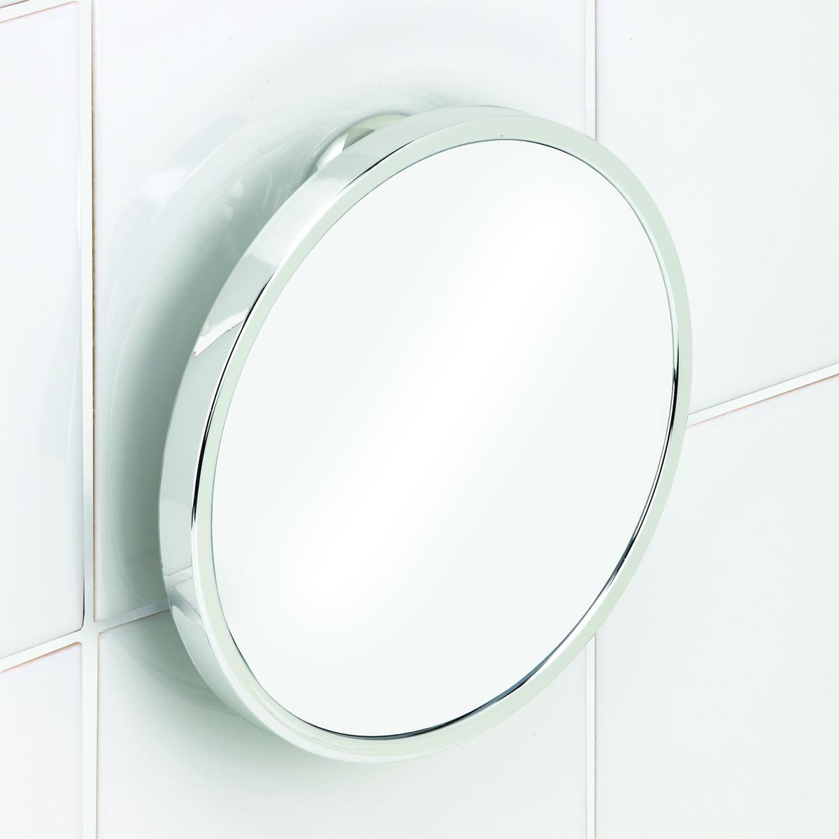 Twist n lock chrome fog free shower shave mirror for Shaving mirror