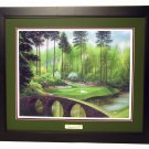 Augusta National Hole #12 Golden Bell Bridge 24 x 30 Framed Print