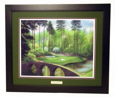 Augusta National Hole #12 Golden Bell Bridge 24 x 30 Framed Print