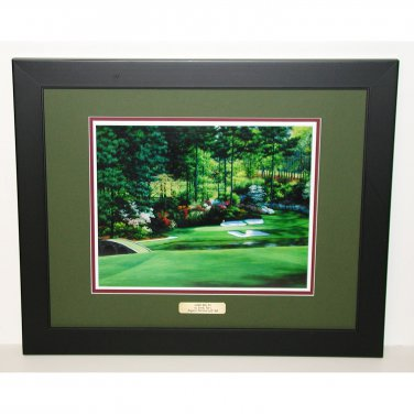 Augusta National Hole #12 Golden Bell 18 x 22 Framed Print