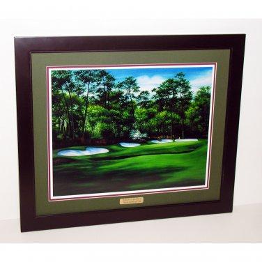 Augusta National Hole #13 Azalea 17 x 19 Framed Print