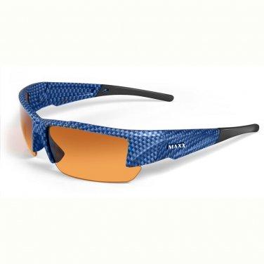 Maxx STEALTH 2.0 HD Blue Carbon GOLF Sunglasses