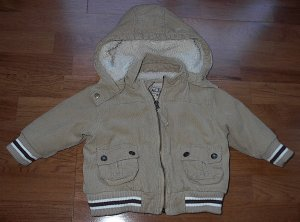 The Children's Place Baby / Toddler Boy Hooded Sherpa lined Coat Size 18 Months EUC