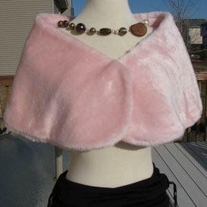 Pink Mega Faux Mink Fur Wrap