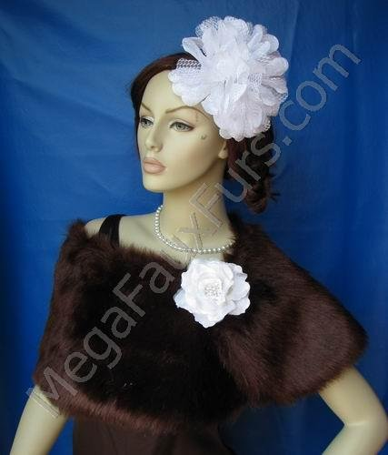 Sable Faux Fox Fur Wrap