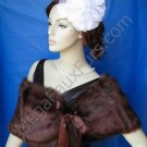 Sable Faux Fox Fur Bridal Stole Shawl