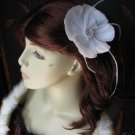 Feathers Fascinator with Swaroski Crystals