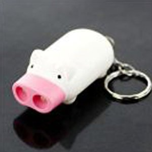 Mini Pig 2 LEDs Flashlight - White