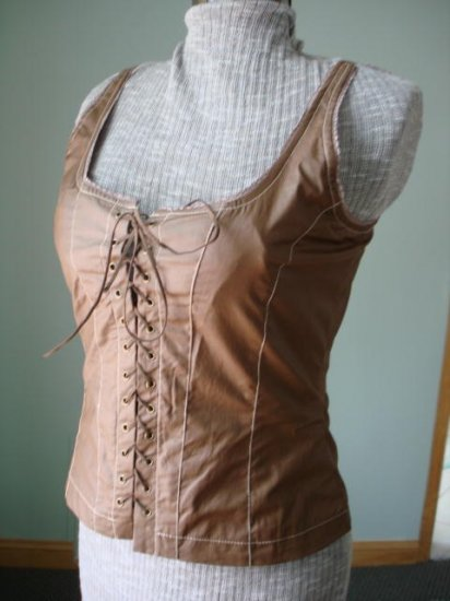 $29.99 free ship_Renaissance Goth Fitted Corset Bodice,Tank top-New &Tag Free shipment