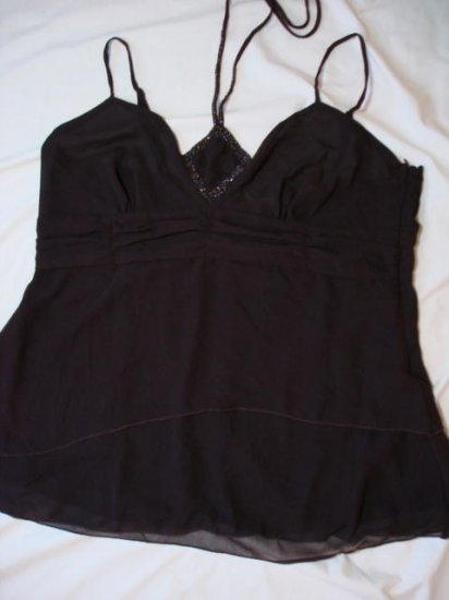 $7.99 Evening,Plus-1X,2X&3X,Black/Pink / Brown HalterTank Top