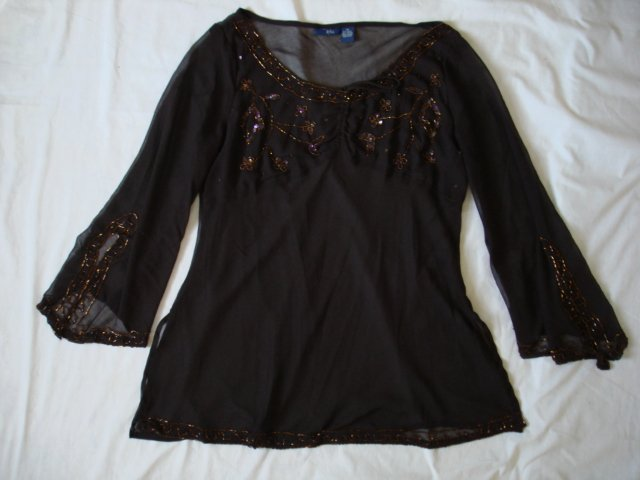 $12.99 Evening,Plus1X,2X,3X,Sequins Pink,Dark Brown,Top,Blouse
