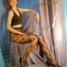 $4.99_ New&Sealed-1pair UNNEX-Queen size-Black Lacy Pantyhose-XXL