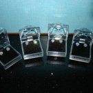 new in Clear box-Lot of 4  Zirconia,Sterling Silver Earrings I CAN'T BELIEVE IT IS NOT DIAMOND