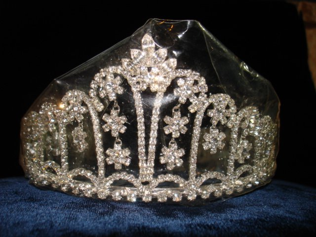 Bridal Wedding Veil Prom Pageant Clear Rhinestone Crystal Tiara, Crown Headband #H17947