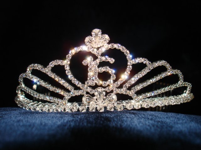 New with tag-Rhinestone Crystal Sweet 16 Tiara, Crown, Headband
