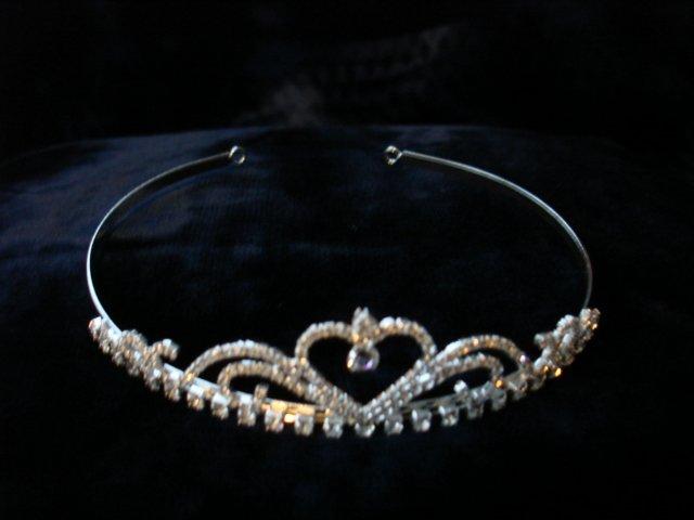 $22.99 free ship  Bridal Wedding Veil Prom Pageant Clear Rhinestone Crystal Tiara,Crown Headband