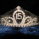 $17.99 New with tag-Rhinestone Crystal Sweet 15 Tiara, Crown, Headband
