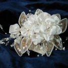 $12.99 Bridal Wedding Veil Prom Pageant  Pearl,Crystal Satin flowers Head Piece tiara,Crown Headband