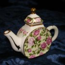 "$9.99 New-decorative miniature floral tea pot -4.5""X3.5""X1.5"""