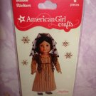 6 pieces- American Girl Crafts Josefina Montoya doll 3D Bubble Stickers