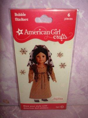 6 pieces- American Girl Crafts Josefina Montoya doll 3D Bubble Stickers