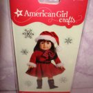 $1.5_6 pieces- American Girl Red Winter Christmass Dress  doll 3D Bubble Stickers