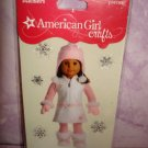 6 pieces- American Girl Crafts Winter White & Pink Dress doll 3D Bubble Stickers
