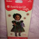 6 piece-American Girl Crafts Addy Walker  doll 3D Bubble Stickers