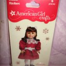 $1.5 6 piece- American Girl Crafts Samantha Parkington doll 3D Bubble Stickers