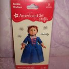 $1.5 5 piece- American Girl Crafts Felicity Merriman doll 3D Bubble Stickers