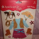 $3.99 for10 pieces-American Girl Crafts Doll Clothes Western Style Stickers