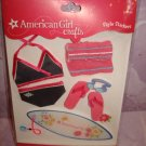 8 pieces- American Girl Crafts Doll Clothes Swimming Style Stickers