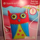 $7.95 for 23 pieces American Girl CRAFTS OWL Tech Case SEWING KIT...CUTE!